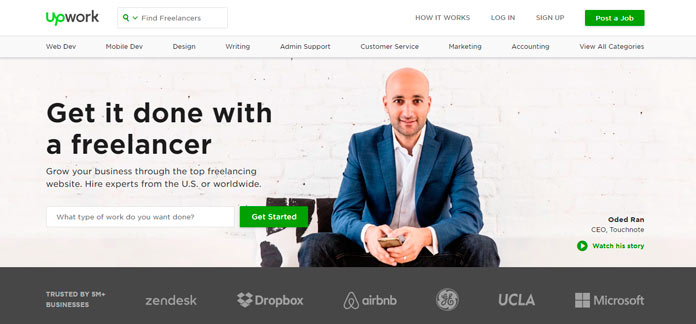 UpWork es una de las plataformas más importantes para trabajar en linea
