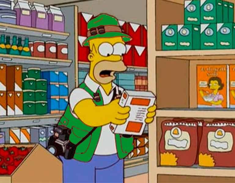 Homero trabajando como paparazzi