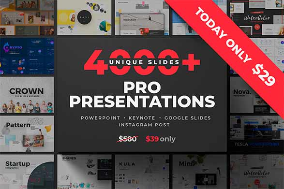40 en 1 bundle de plantillas de power point