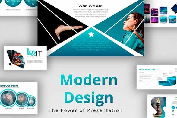 Diseño de plantilla Modern Design