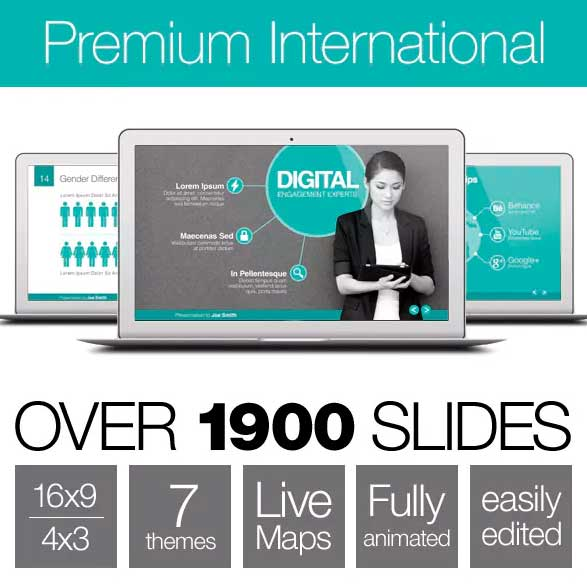 plantilla de power point premium international