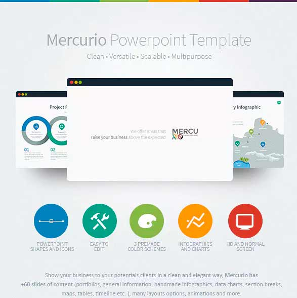 plantilla de power point mercurio