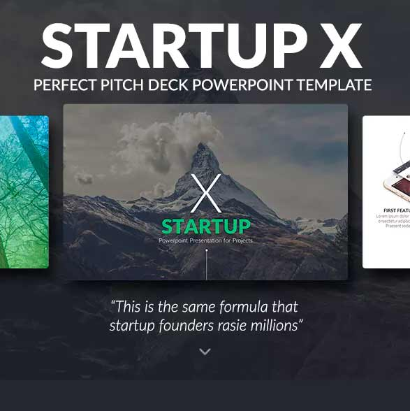 plantilla de power point startup x